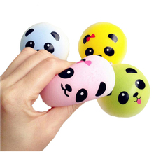Lovely Squishy Donuts and Jumbo Panda Bun Slow Rising Squeeze Squishy Charms Cute Soft Bread Chain Mini Phone Straps Kids Toys(China)