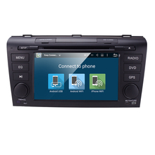 Android 5.1 Car DVD Player with GPS System For Mazda3 2004-2009 Can bus Radio USB SD radio navigation map Steering Wheel DVR MAP