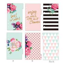Dokibook Winter Series Dividers Planner Refill Notebook Diy Accessories Matching Filofax Kikki Creative Gift Stationery 5 Sheets