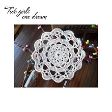 Handmade Crochet DIY Placemat Round Hotel Dinner Decor Coaster Flower Clothes Accessory 13CM  Table Doily Wedding Gift 30pcs/lot