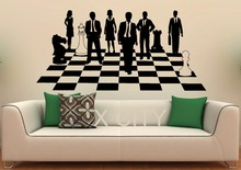 Chess Game Sticker Strategy Board Show Decals Vinyl Office Home Interior Design Art Murals Living Room Bedroom Wall Decor(China)