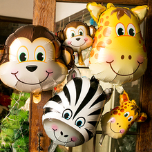 Safari Wildlife Animal Tiger Lion Monkey Zebra Deer Giraffe Cow Air Balloon Kids Gift Birthday Party Animal Zoo Theme Supply