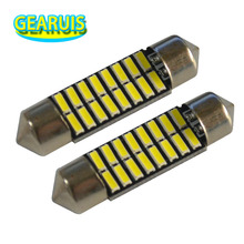 10cs Festoon 31MM 36MM 39MM 41MM light 70MA c5w 16 SMD led 4014 Car Dome Reading Lights Auto Lamps Bulbs car styling 12V(China)