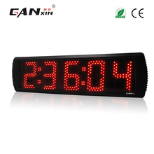 [Ganx]5'' 5 digits Waterproof Led racing timer with red color large square wall clocks(China)
