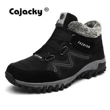 Cajacky Brand Men Snow Boots Plus Size 46 New Men Boots With Fur Unisex Winter Snow Botas Warm Plush Shoes High Top Boots Autumn(China)