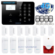 HOMSECUR Wireless&wired 4G/3G/GSM LCD Home Security Alarm System+Touch Keypad(China)