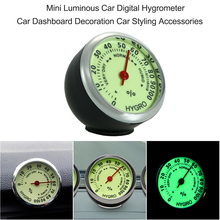 Buy Car-Styling Anti-Scratch Thermometer Hygrometer Mini Automobile Decoration Ornament Car Digital Clock Quartz Auto Watch Car for $2.92 in AliExpress store