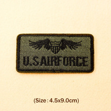 U.S AIRFORCE 4.5x9.0cm Patch Badges Patches Badge Embroidered Applique Sewing Iron On Patch Clothes Garment Apparel Accessories
