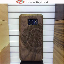 Felidio Natural Wooden Case for Samsung Galaxy S6 edge Wood Case Cover for Samsung S6 Cell Phone Case Handmade Carving Hardcase(China)