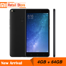 "Original Xiaomi Mi Max 2 4GB RAM 64GB 6.44"" Display Snapdragon 625 Octa Core Mobile Phone Max2 12.0MP 4K Camera IMX386 5300mAh"