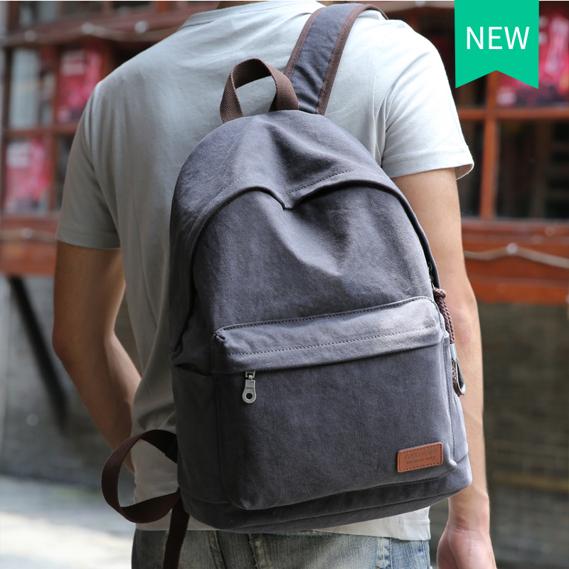 Muzee Canvas Backpack College Student School Backpack Bags Suit for 14 inch Computer and 1-3 Days Trip Backpack<br><br>Aliexpress
