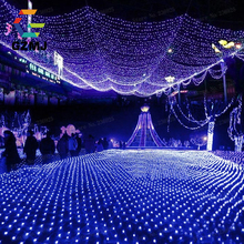 3x2M Fish Net LED String Lights Outdoor Copper Wire Wedding Christmas Decorations Holiday Indoor Party Park Grass Fairy Lights(China)