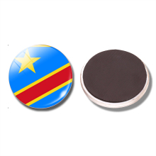 Democratic Republic of the Congo Flag Fridge Magnet Kinshasa Cananga Glass Magnetic Refrigerator Stickers Note Holder Home Decor(China)
