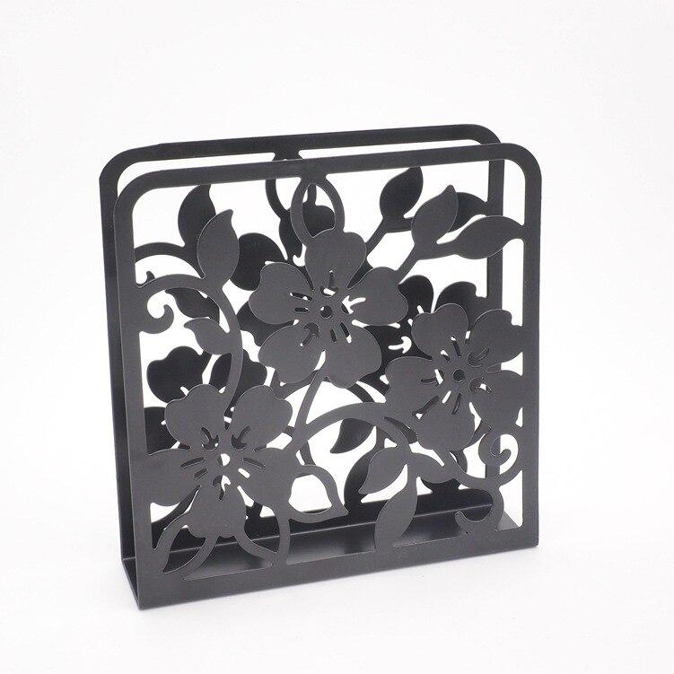 Napkin Holder Flower Tissue Boxes Dining Decor Organizer Picnic Caddy Holder