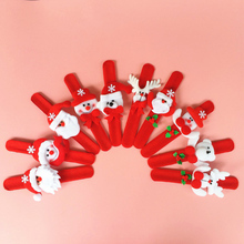 1pcs Christmas Decorations Christmas Patting Circle Christmas Children Gift Santa Claus Snowman Deer New Year Party Toys