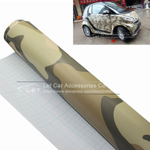 New Car Styling Stickers camouflage car wrap film with air bubble auto stickers camo vinyl foil Cover(China)
