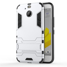 For HTC Bolt Hybrid Kickstand 2 in1 combo Bracket Stand Case + Heavy Duty Armor Phone Back case For HTC 10 Evo / Bolt phone Case
