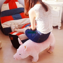 Dorimytrader 76cm Giant Simulated Animal Pig Plush Toy Stuffed Soft Cartoon Pig Sofa Kids Play Doll Home Decoration DY61421