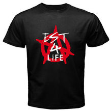 2017 New Arrivals Men'S Machine Gun Est 4 Life Mgk Logo  Design T Shirt Male Casual Tops Hipster Printed Summer Tees