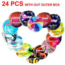 Buy ELASUN 24pcs/Lot natural latex Condoms 8 style thread praticles G spot Ultra thin condoms men sex toys penis sleeve adult