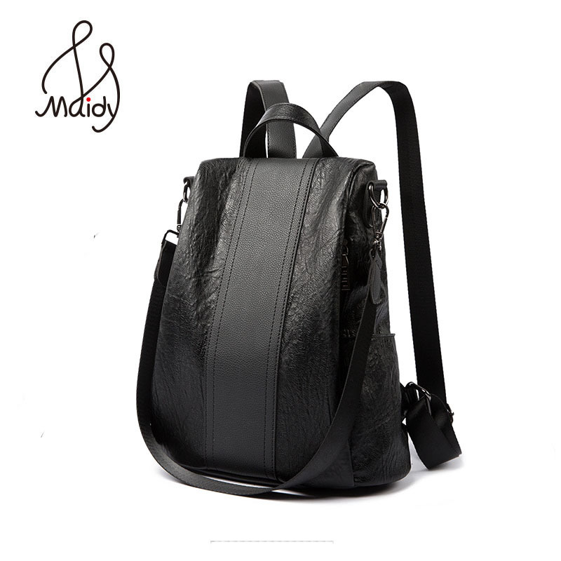 Ladies Lady Woman Brown Laptop Backpack Ostrich Leather Large Shoulder Black Backpacks School Bags For Teenagers Girls Pu Travel<br>