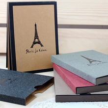 Handmade DIY Photo Album Eiffel Tower Memorable Photos Book Album Wedding Pictures Record Clipbook Craft Home Decor Accessories