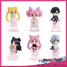 Original Megahouse Ochatomo Series Pretty Guardian Sailor Moon Night & Day Complete Figures Set of 6 PCS