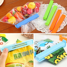 6PCS Cute Food Snack Bag Storage Sealing Clips Practical Sealer Clamp Plastic Tool Ziplock Food Storage Clip Home Organization