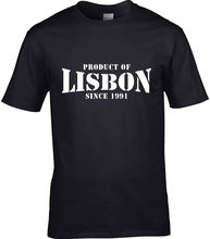 Product Of Lisbon Portugal Men T-Shirt Place Birthday Gift Year Of Choice Men T Shirt Summer O Neck Cotton