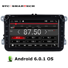 SMARTECH 2 Din Car PC Tablet Multimedia 8 inch Android 6.0.1 OS Quad-Core For Passat Caddy Magotan support OBD Bluetooth GPS Nav