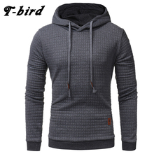 T-Bird 2017 New Fashion Mens Hoodies Brand Men Lattice Jacquard Sweatshirt Male Hoody Hip Hop Autumn Winter Hoodie Mens Pullover(China)
