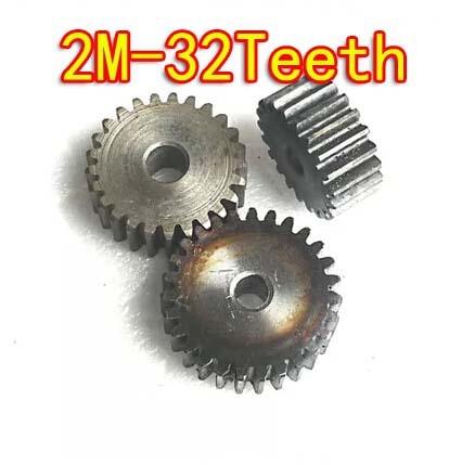 Diameter:68mm   2M-32teeth  45 carbon steel metal straight tooth gear motor gear  DIY  standard bevel gear<br>