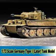 1:72 Scale Tank Model Germany Tiger I (Later TYPE ) Assembly Tank Model Building Kits DIY Tank Collection 07244(China)