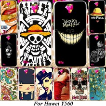 Hard Plastic Soft TPU Silicon Phone Case For Huawei Y5 Y560 Y560-L01 4.5'' Covers Skull Head Naruto Bags Hood Shell Housing