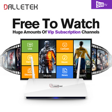 Dalletektv Leadcool TV Box Android HD European Arabic Tv Box with 3500+ Russia USA Brazil Italy Iptv Subsription Set Top Box