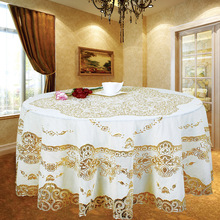High-grade bronzing plastic Western table cloth waterproof anti - oil anti - oil table cloth round diameter of 150 cm