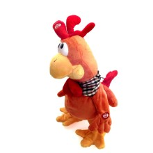 A funny rooster toys dancing singing musical chicken Stuffed & Plush Animals toy interesting Gift For kids