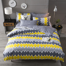 japanese style Bedding Set luxury Duvet Covers Set plus Size Bedclothes Bedsheet linen fitted sheeet 1.5m 1.8m 2.0m bed clothing