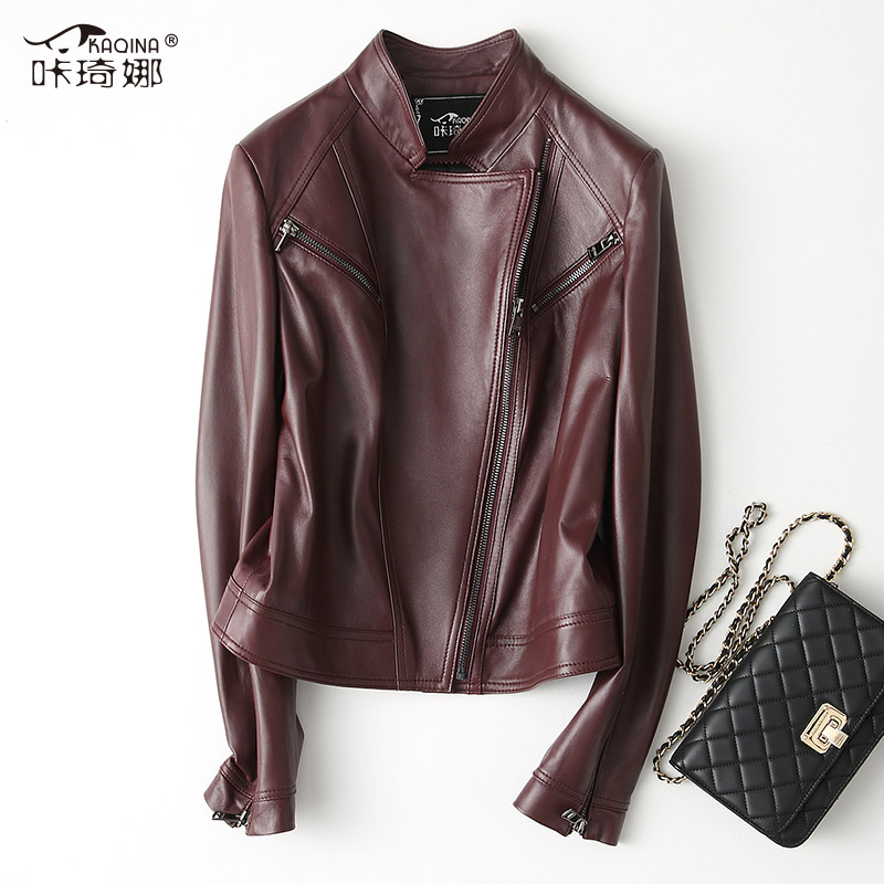 Genuine Leather Jacket Autumn Winter Coat Women Korean Jackets Fall 2018 Vintage Sheepskin Leather Jacket Chaqueta Mujer 28018MY