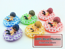 6pcs/lot Cute Q version PVC japanese anime free! Iwatobi Swim Club Rin Macoto Haruka Nanase Rei doll action figures Model toy(China)