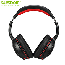 Top Quality Ausdom M04S Upgrade Wireless + Wired Bluetooth NFC Connection Overear Headphone Headset Noise Cancelling for phone