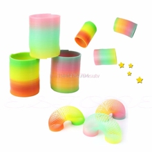 Colorful Rainbow Fashion Plastic Magic Slinky Children Classic Development Toy #H055#