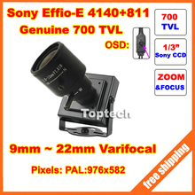 700TVLines 960H Sony Effio-E CCD 9-22mm varifocal lens OSD Menu Mini cctv camera 900tvl effio-a version security camera