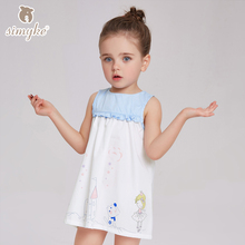 Dresses For Children 2017 Girl Child Sleeveless Dress Kids Candy Color Dresses For Girls Toddler Dress Child Clothes D8210