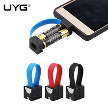 UYG Mini Portable Micro USB Charger 2 AA Battery powerd Emergency Smallest phone Charger For Samsung xiaomi Huawei LG Android