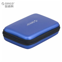 Blue Portable Hard Drive Carrying Case for 2.5inch HDD support shocking protection and waterproof multifunctional storage bag(China)