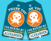 Personalized Octonauts Gift Favor tags, Thank you Tags,Birthday party decorations kids ,Party Tags, Goody Bag Tags Baby Shower(China)