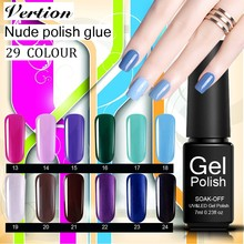 Verntion Semi Permanent Uv Nail Art Gel Varnish UV Led Colors Gel Polish Nail Set Soak Off Gel Polish Lot Hybrid Lacquer(China)