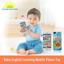 Hot Sale Toy Phones Kids Baby Mobile Elephone English Learning Educational Mobile Phone Toys Popular Kids Baby Toys(China)