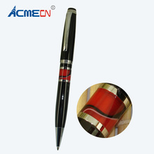 New arrival MB style Ballpoint Pen with red Acrylic middle ring Office and School Stationery Black Ball Pen for promotion Gifts(China)